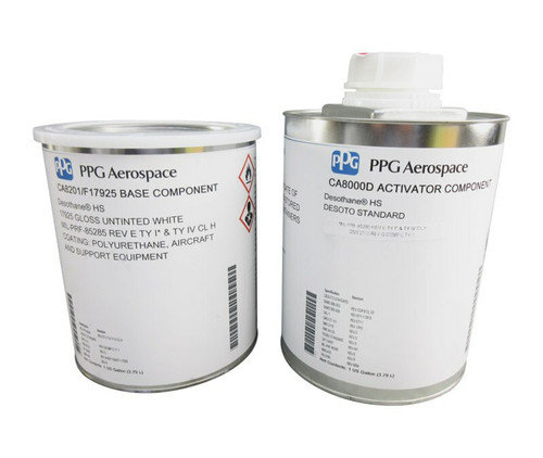 PPG Aerospace® Desothane® CA8201/FS#11136 Red MIL-PRF-85285 Type I Spec High-Solid Polyurethane Topcoat - 1:1 Gallon Kit