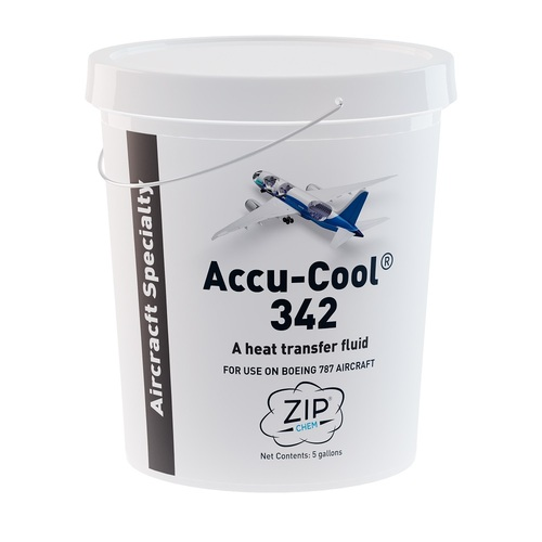 Zip-Chem® 011097 Accu-Cool® 342 Orange BMS 3-42 Spec Heat Transfer Fluid - 5 Gallon Pail