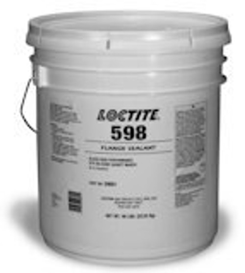 Henkel 59891 LOCTITE® SI 598™ Black High Performance Silicone Gasket Maker - 22.68 Kg (50 lb) Open Head Pail with Lid