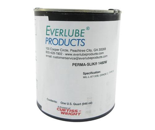 Everlube® Perma-Slik® 1460W White MIL-L-87132B, Grade C, Type III Spec Low VOC Water Based Cetyl Alcohol Wax Emulsion - Quart Can