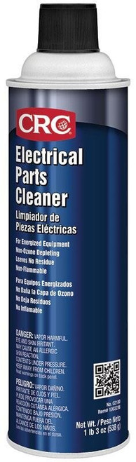 CRC® 02180 Colorless Electrical Parts Cleaner - 538 Gram (20 oz) Aerosol Can