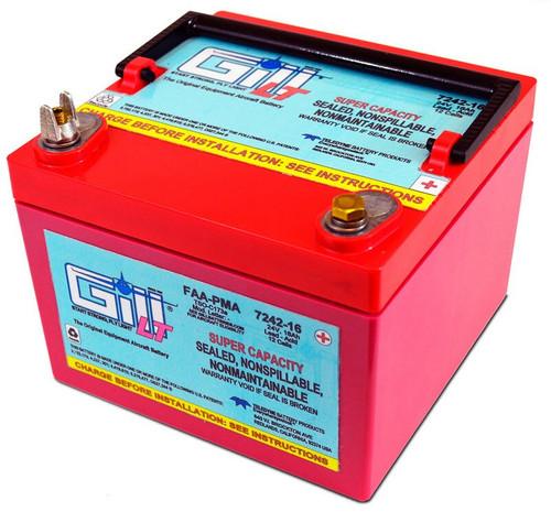Gill 7242-16 LT Series 24-Volt/16Ah Super Capacity Sealed Lead Acid Aircraft Battery