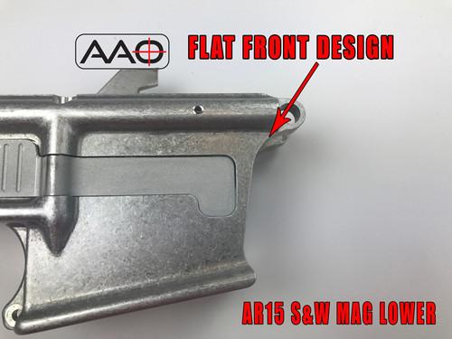 80% AR9 - S&W 9mm M&P Magazine w/LRBHO - Flat Front - AR15 Based Lower  Receiver - 7075 Raw