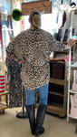 Leopard High Low Cardigan-One Size Fits Most