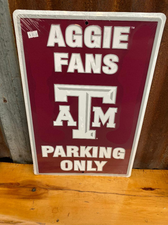 Texas A&M Metal Parking Only