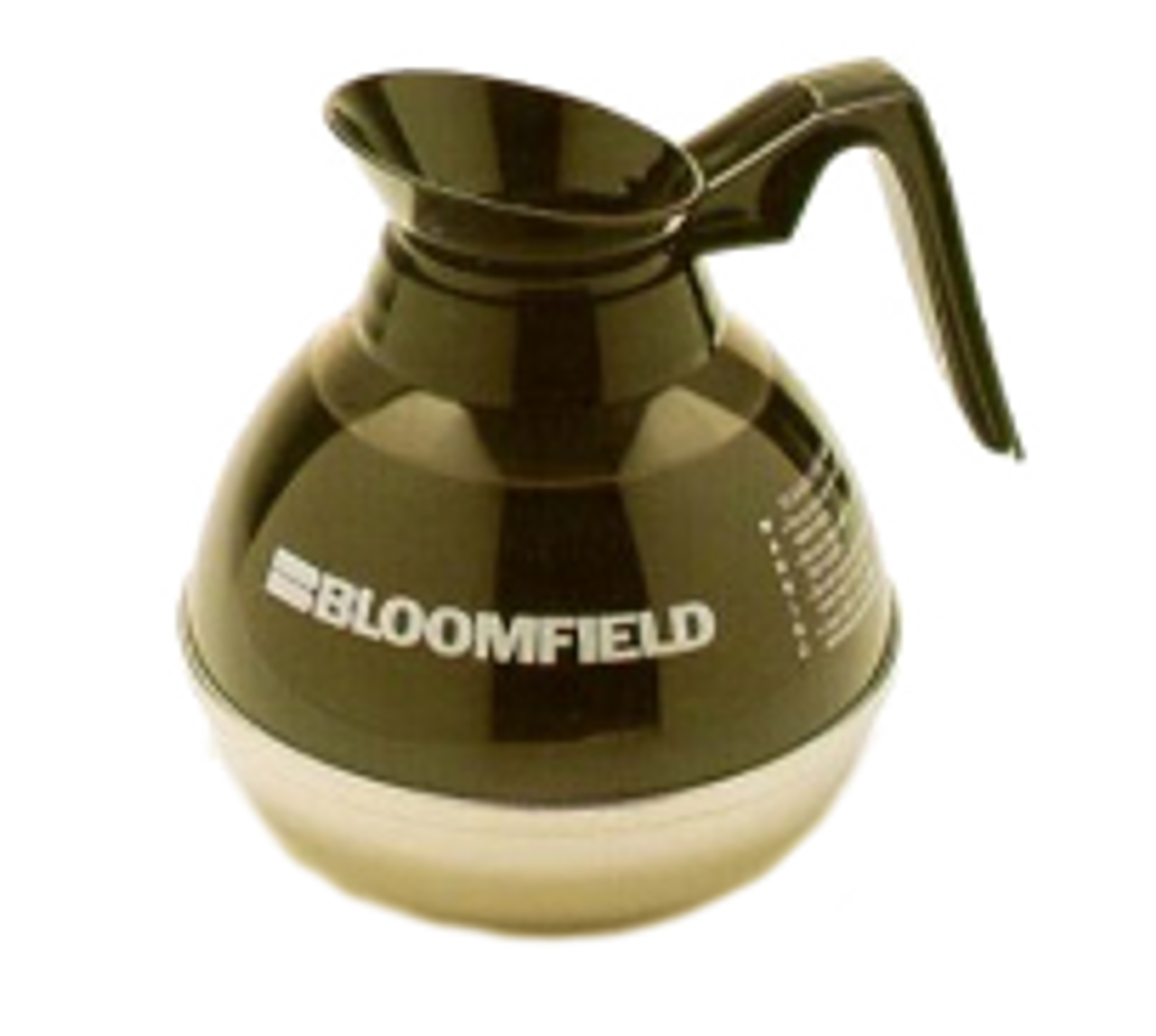Bloomfield REG8890BL24 Unbreakable Stainless & Plastic Decanter w/ Black Handle