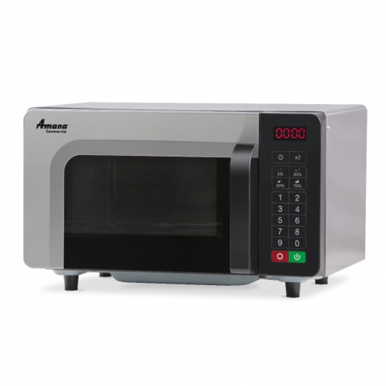 Amana RMS10TSA Stainless Steel Commercial Microwave with Touchpad Controls - 120V, 1000W