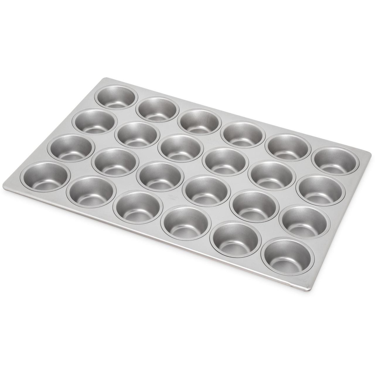 Carlisle 601840 - Steeluminum® 24 Cup Heavy-Duty Cupcake Pan 3.5 oz