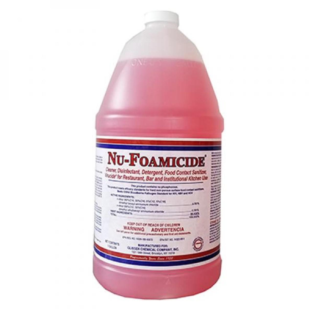 Tablecraft 300048 1 gal Glissen Chemical Nu-Foam All-Purpose Cleaner