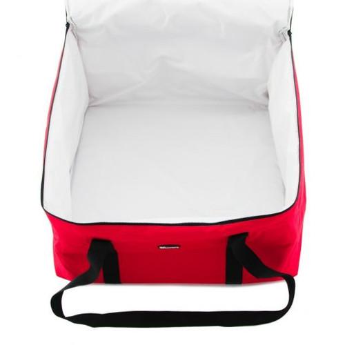 """Winco BGDV-22 22"""" x 22"""" Insulated Pizza Delivery Bag"""