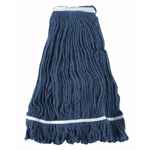 Winco MOP-32 Wet Mop Head w/ 32 oz Capacity & Blue Yarn, Looped End