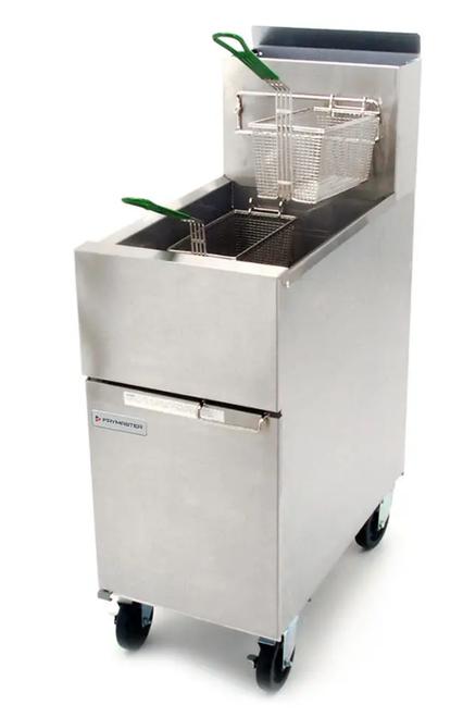 Dean SR142G Commercial Gas Floor Fryer - 43 lb Vat, Floor Model, LP or NG