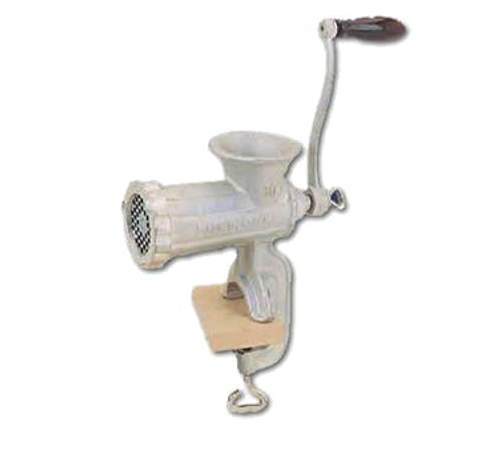 Hand Food Grinder, manual, clamp-on, 3/8 plate hole, includes (1) knife & (1) plate, heavy duty cast