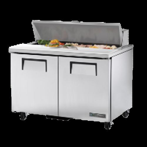 True TSSU-48-12-HC Commercial Cold Food Prep Table