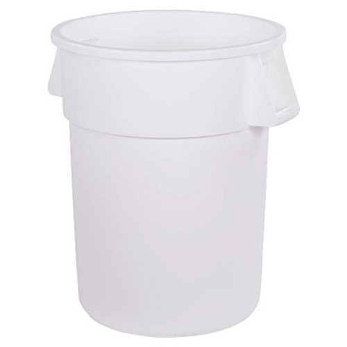 "Carlisle 34105502 Bronco Waste Container, 55 gallon, 33""H x 26-1/2"" dia. (31-1/2"" dia. with handles)"