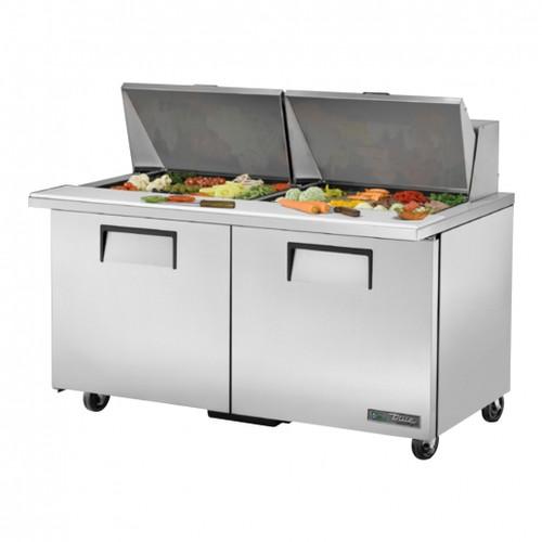 "True TSSU-60-24M-B-ST-HC 60"" Sandwich/Salad Prep Table w/ Refrigerated Base, 115v"