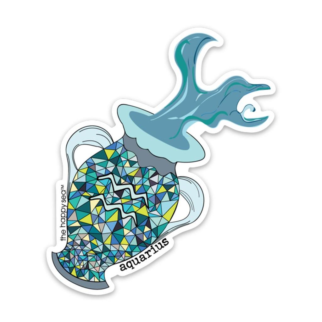 """4"""" Aquarius Vinyl Sticker"""