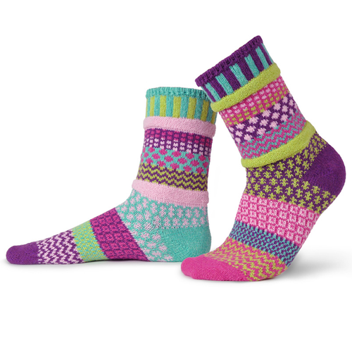 Earthfriendly and fun, these socks are made from recycled yarn in the USA!