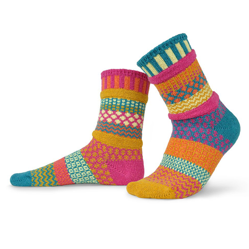 Bright and colorful! Made from recycled yarn in the USA!