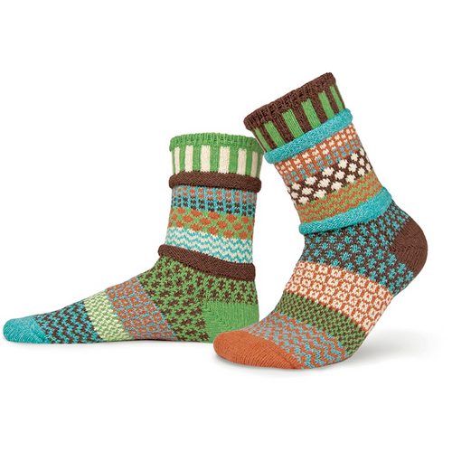 Earth-Friendly socks made from recycled yarn in the USA!