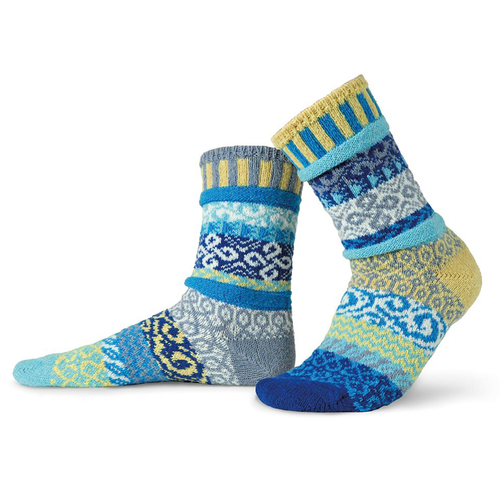 Beautiful blues! Made from recycled yarn in the USA!