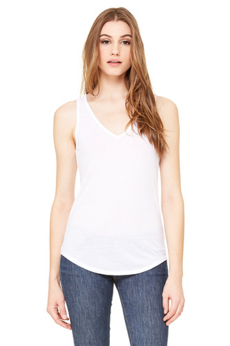 Bella Canvas V-Neck Tank White