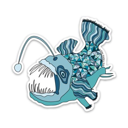 """3"""" ANGLER FISH VINYL STICKER"""