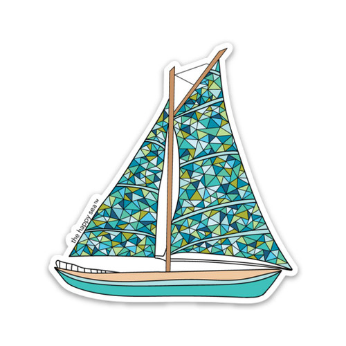 3' Sailboat Vinyl Sticker