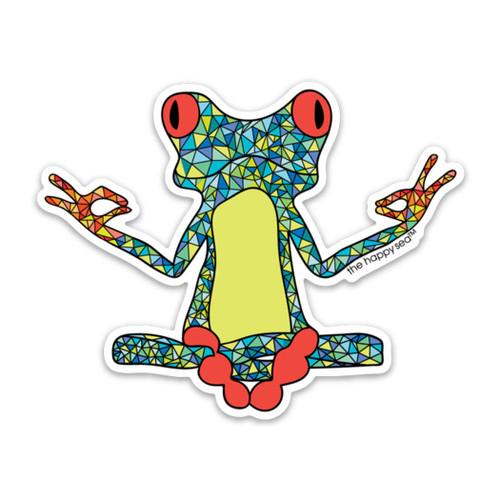 """3"""" Yoga Frog Vinyl Sticker"""