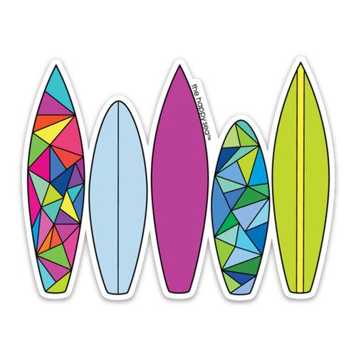 "4"" Surfboards Vinyl Sticker"