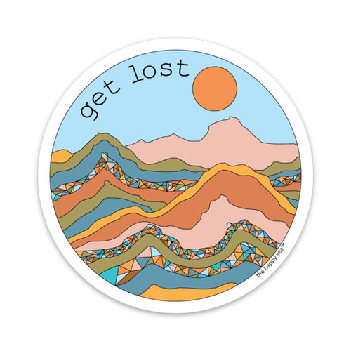 "4"" Get Lost Vinyl Sticker"