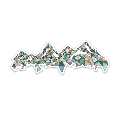 "4"" Mountains Vinyl Sticker"