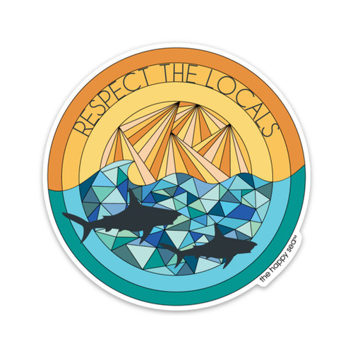 "4"" Respect the Locals Vinyl Sticker"