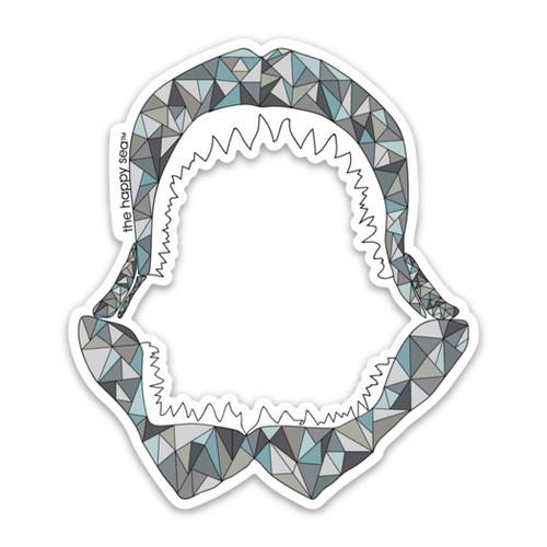 "4"" Shark Jaw Vinyl Sticker"