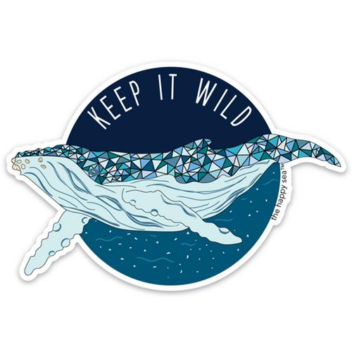 """4"""" Keep It Wild Vinyl Sticker"""