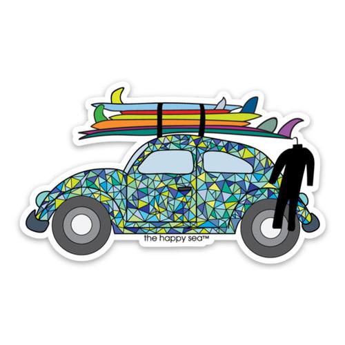 "4"" VW Bug Vinyl Sticker"