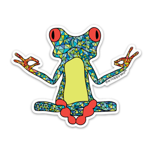 """4"""" Yoga Frog Vinyl Sticker"""