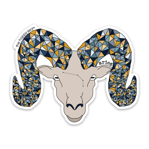 "4"" Aries Vinyl Sticker"