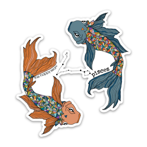 "4"" Pisces Vinyl Sticker"