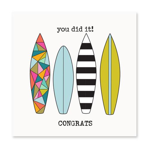 You Did It! Congrats