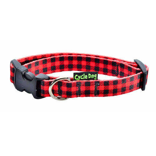 CD-RED PLAID COLLAR-SM