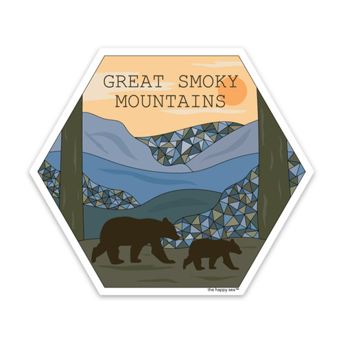 """THS-GREAT SMOKY MOUNTAINS 4"""" STICKER"""