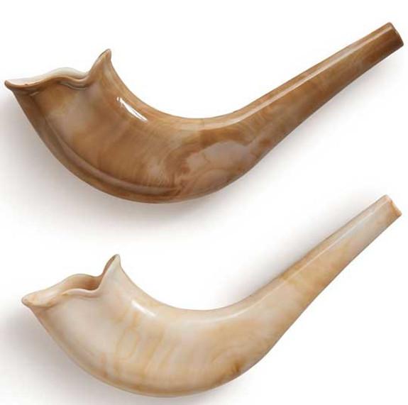 Marbled Toy Shofar-set of 2