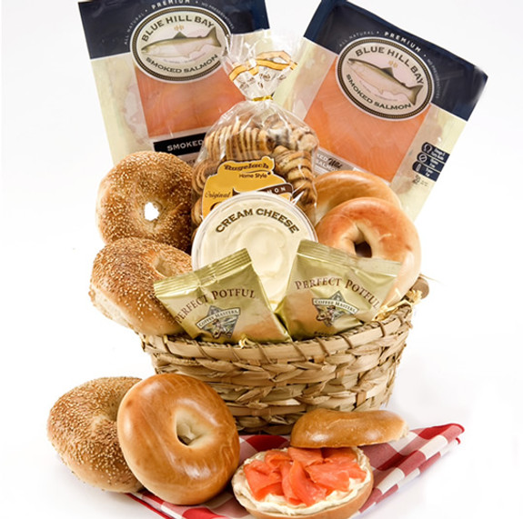Holiday Lox & Bagels Basket