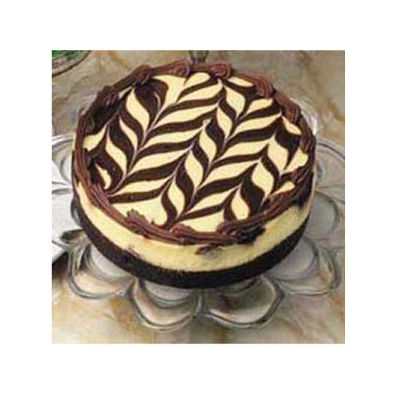 SUGAR FREE Decadent Marble Truffle Cheesecake