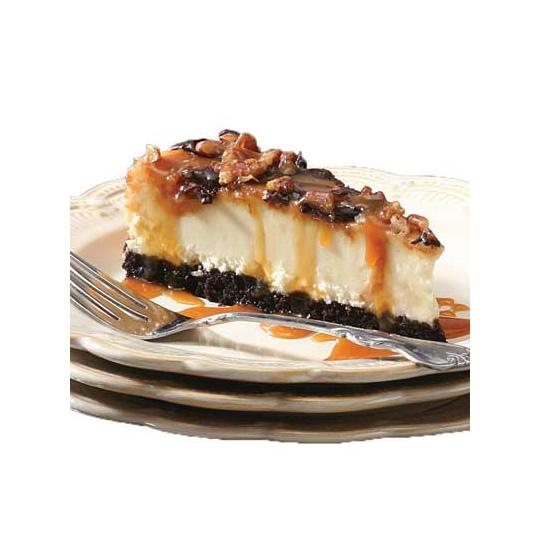 Chocolate Caramel Pecan Cheesecake