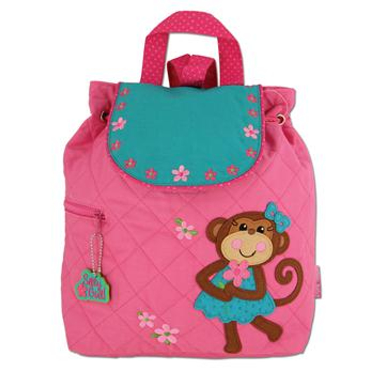 Personalized Stephen Joseph Girl Monkey Backpack Overnight Bag with FREE Embroidery Diaper Bag Toddler Backpack