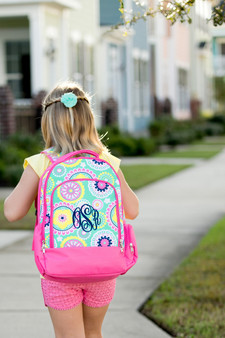 Monogrammed Piper Backpack