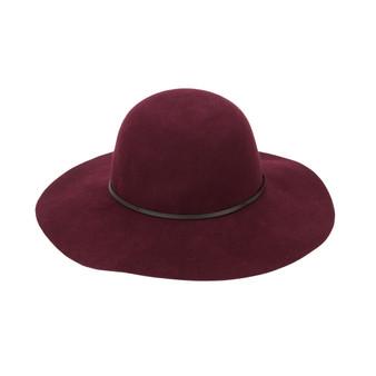 Monogrammed Wine Wool Floppy Hat