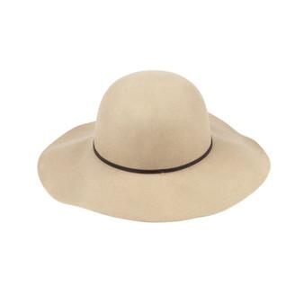 Monogrammed Natural Wool Floppy Hat